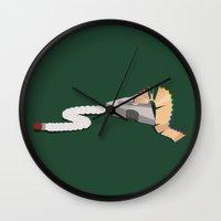 floyd Wall Clocks featuring pink floyd & caterpillar &butterfly by gazonula