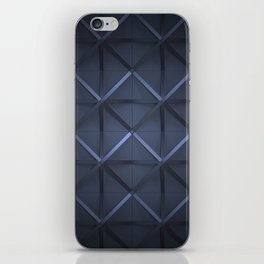 dark blue grid iPhone Skin