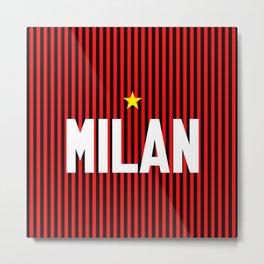 I Rossoneri Milano Metal Print