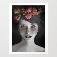 Colored dots Art Print