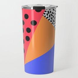 Modern triangle pattern Travel Mug