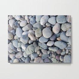 Cohasset Beach stones Metal Print
