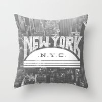 nyc Throw Pillows featuring NYC by Zeke Tucker