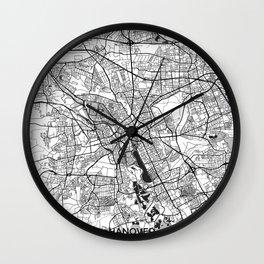 Hanover Map Gray Wall Clock