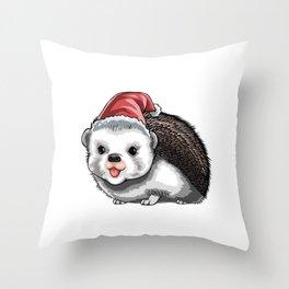 Hedgie Christmas Holiday Season Gift Throw Pillow