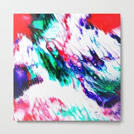 Colorful Fluctuation Metal Print