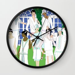 Gatsby Girl Garden Party Wall Clock
