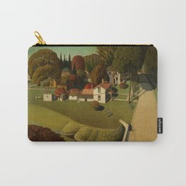 Birthplace of Herbert Hoover, West Branch, Iowa by Grant Wood Carry-All Pouch