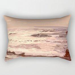 Sea waves at sunset #ocean #horizon #seascape Rectangular Pillow