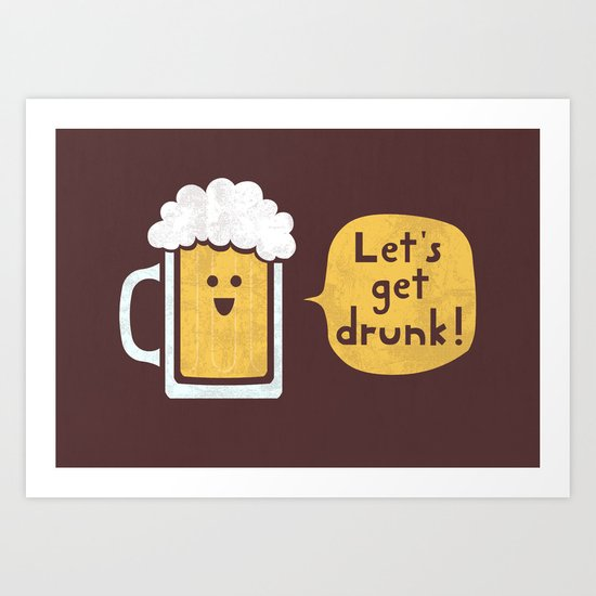 Drinking Buddy Art Print