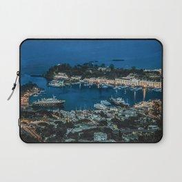 Photo Italy Ischia ship Bay Berth Evening Houses Cities Ships Pier Marinas Building Laptop Sleeve