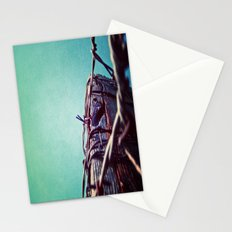 Barbed Wire Blue Stationery Cards