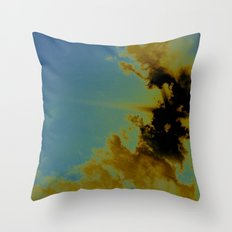 there's sulfur in the air Throw Pillow