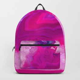 Pink ectoplasm agate Backpack