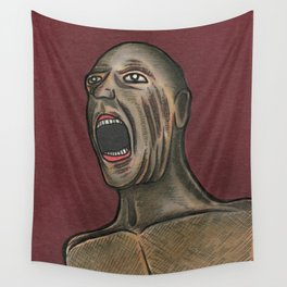 Naked Scream Wall Tapestry