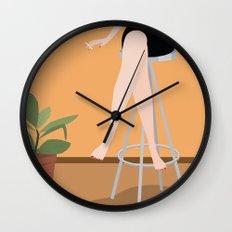 Girl on Stool Wall Clock