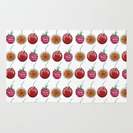 fresh fruits and cocktail rolls Rug