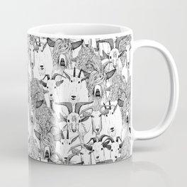 just goats black white Coffee Mug