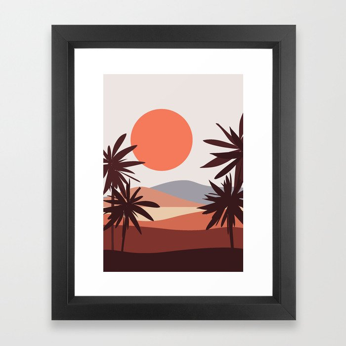 Abstract Landscape 12 Portrait Framed Art Print
