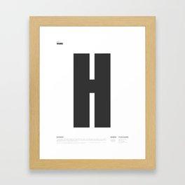 H as in Hives Framed Art Print
