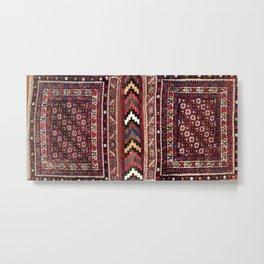 Afshar Khorjin Kerman South Persian Double Bag Print Metal Print