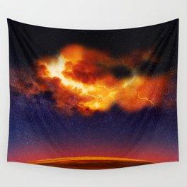 War in the Heavens - Digital Space Art Wall Tapestry