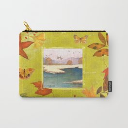 Fall Citron Leaves Carry-All Pouch