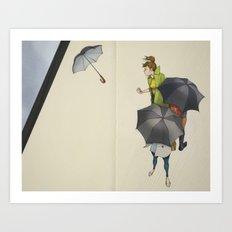 Au Revoir, Parapluie Art Print