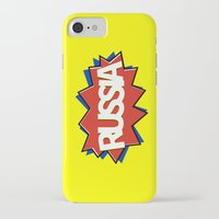 russia iPhone & iPod Cases featuring Russia by mailboxdisco