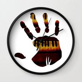 Piano Hand Wall Clock