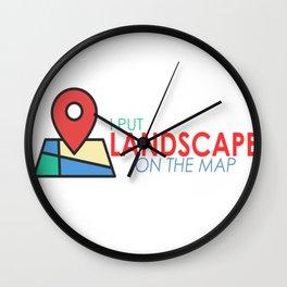 I put Lancashire on the map Wall Clock