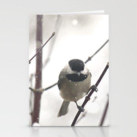 Chickadee in Winter Stationery Cards