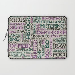 Photography Terms Word Pattern Laptop Sleeve