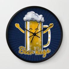 Beer Hugs Wall Clock