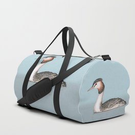 Great crested grebe pencildrawing Duffle Bag