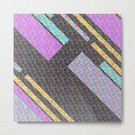 Holographic geometric pattern Metal Print