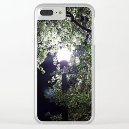 Nightly Blooms Clear iPhone Case