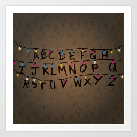 Stranger things ABC Art Print