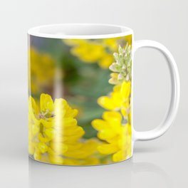 Yellow Lupin and a Ladybug Coffee Mug