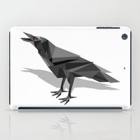 raven iPad Cases featuring Raven  by mailboxdisco