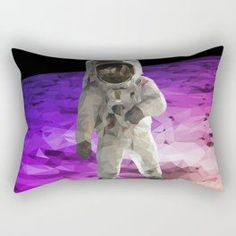 Astronaut Low Poly Rectangular Pillow