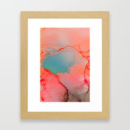BETTER TOGETHER - LIVING CORAL by MS Framed Art Print