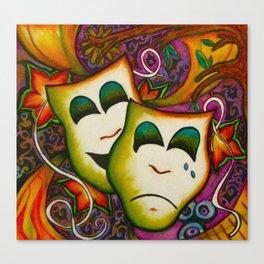 Masks (Theatre) Canvas Print