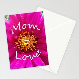 Mom = Love Stationery Cards