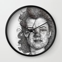 Roxy Renegade Queen of the Roller Derby Wall Clock