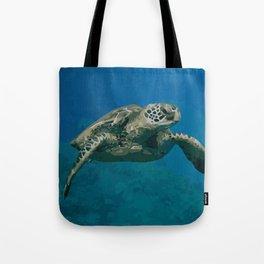 Sea Turtle Ocean blue Water Tote Bag