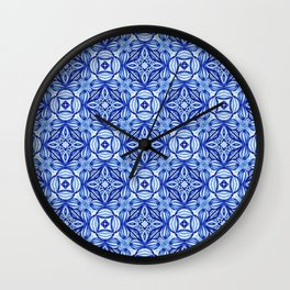 For the Love of Blue - Pattern 372 Wall Clock