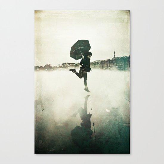 La danse de la pluie Canvas Print