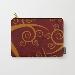 Red Swirl Pattern Carry-All Pouch