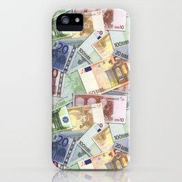 Art of the euro money iPhone Case